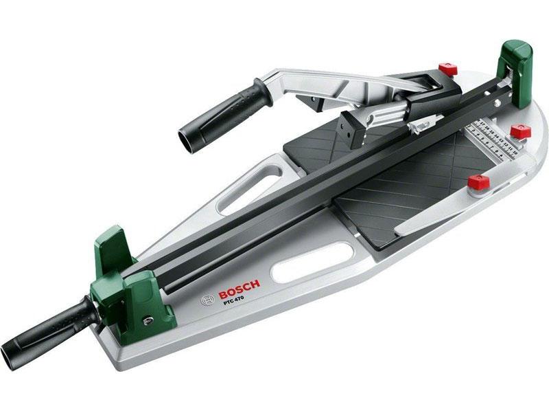 Плиткорез Bosch PTC 470 0603B043000603B04300Простая, быстрая и высокоточная резка керамической плитки размером до 470 мм Стабильный угловой упор 45° Удобные ручки для переноски