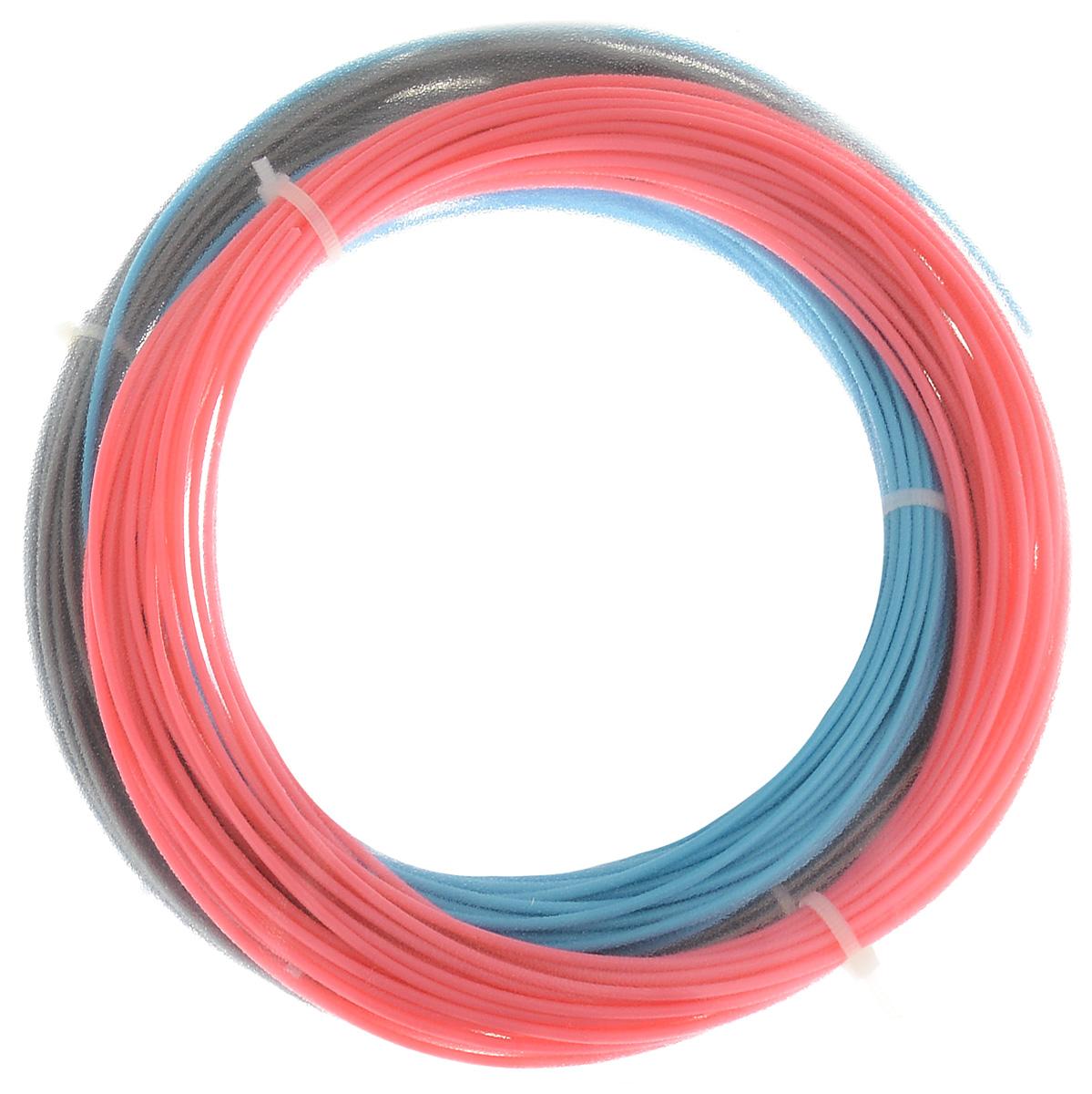 ESUN 3D Filament, Blue Pink Silver комплект ABS-пластика (10 м)УТ000006538ESUN 3D Filament - комплект ABS-пластика для 3D печати, состоящий из трех цветов. Толщина пластика составляет 1,75 мм. Длина каждого мотка - 10 метров.