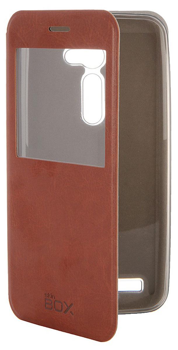 Skinbox Lux AW чехол для Asus ZenFone 2 (ZE500C), BrownT-S-AZE550CL-004Чехол Skinbox Lux AW для Asus ZenFone 2 выполнен из высококачественного поликарбоната и экокожи. Он обеспечивает надежную защиту корпуса и экрана смартфона и надолго сохраняет его привлекательный внешний вид. Чехол также обеспечивает свободный доступ ко всем разъемам и клавишам устройства.