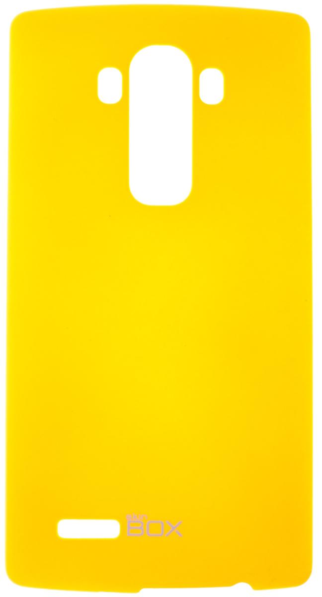 Skinbox 4People чехол для LG G4, YellowT-S-LG4-002Чехол - накладка Skinbox 4People для LG G4 бережно и надежно защитит ваш смартфон от пыли, грязи, царапин и других повреждений. Чехол оставляет свободным доступ ко всем разъемам и кнопкам устройства. В комплект также входит защитная пленка на экран.
