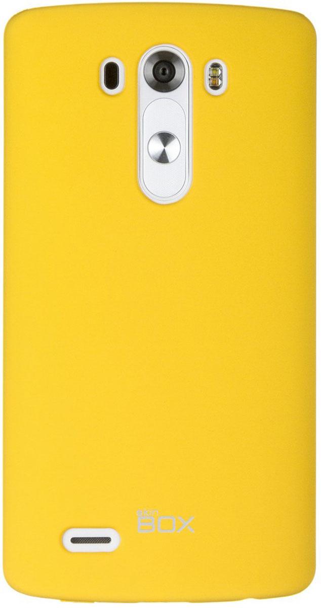 Skinbox 4People чехол для LG G3, YellowT-S-LG3-002Чехол - накладка Skinbox 4People для LG G3 бережно и надежно защитит ваш смартфон от пыли, грязи, царапин и других повреждений. Чехол оставляет свободным доступ ко всем разъемам и кнопкам устройства. В комплект также входит защитная пленка на экран.
