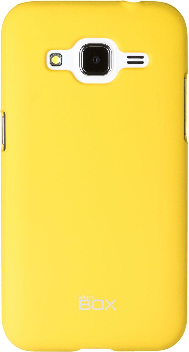 Skinbox 4People чехол для Samsung G360 Galaxy Core Prime, YellowT-S-SG360-002Чехол - накладка Skinbox 4People для Samsung Galaxy Core Prime бережно и надежно защитит ваш смартфон от пыли, грязи, царапин и других повреждений. Чехол оставляет свободным доступ ко всем разъемам и кнопкам устройства. В комплект также входит защитная пленка на экран.