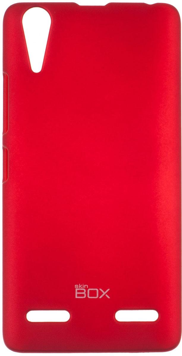 Skinbox 4People чехол для Lenovo A6000, RedP-S-LA6000-002Чехол-накладка Skinbox 4People для Lenovo A6000 бережно и надежно защитит ваш смартфон от пыли, грязи, царапин и других повреждений. Чехол оставляет свободным доступ ко всем разъемам и кнопкам устройства. В комплект также входит защитная пленка на экран.