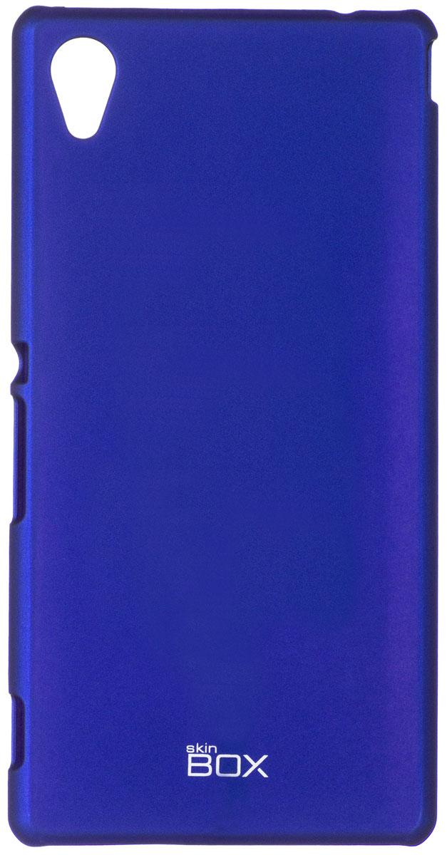 Skinbox 4People чехол для Sony Xperia M4 Aqua, BlueT-S-SXM4A-002Чехол - накладка Skinbox 4People для Sony Xperia M4 Aqua бережно и надежно защитит ваш смартфон от пыли, грязи, царапин и других повреждений. Чехол оставляет свободным доступ ко всем разъемам и кнопкам устройства. В комплект также входит защитная пленка на экран.