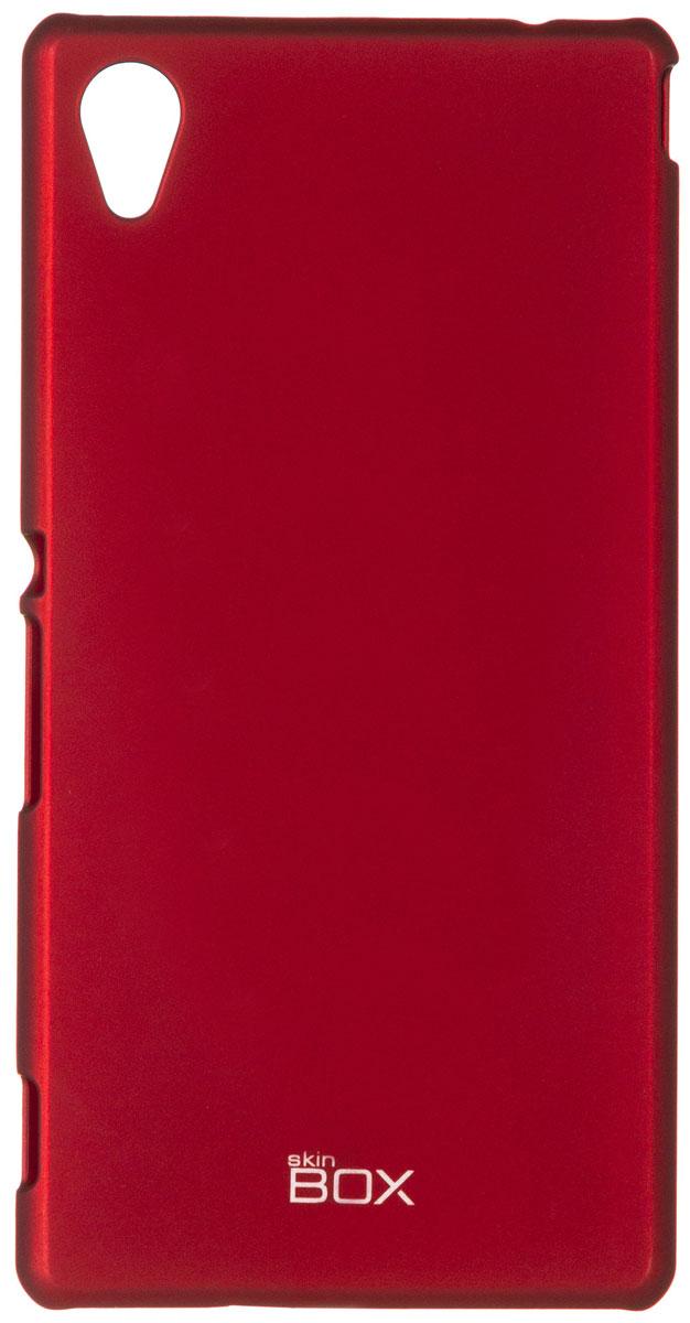 Skinbox 4People чехол для Sony Xperia M4 Aqua, RedT-S-SXM4A-002Чехол - накладка Skinbox 4People для Sony Xperia M4 Aqua бережно и надежно защитит ваш смартфон от пыли, грязи, царапин и других повреждений. Чехол оставляет свободным доступ ко всем разъемам и кнопкам устройства. В комплект также входит защитная пленка на экран.