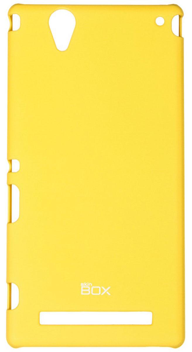 Skinbox 4People чехол для Sony Xperia T2 Ultra, YellowT-S-SXT2U-002Чехол - накладка Skinbox 4People для Sony Xperia T2 Ultra бережно и надежно защитит ваш смартфон от пыли, грязи, царапин и других повреждений. Чехол оставляет свободным доступ ко всем разъемам и кнопкам устройства. В комплект также входит защитная пленка на экран.