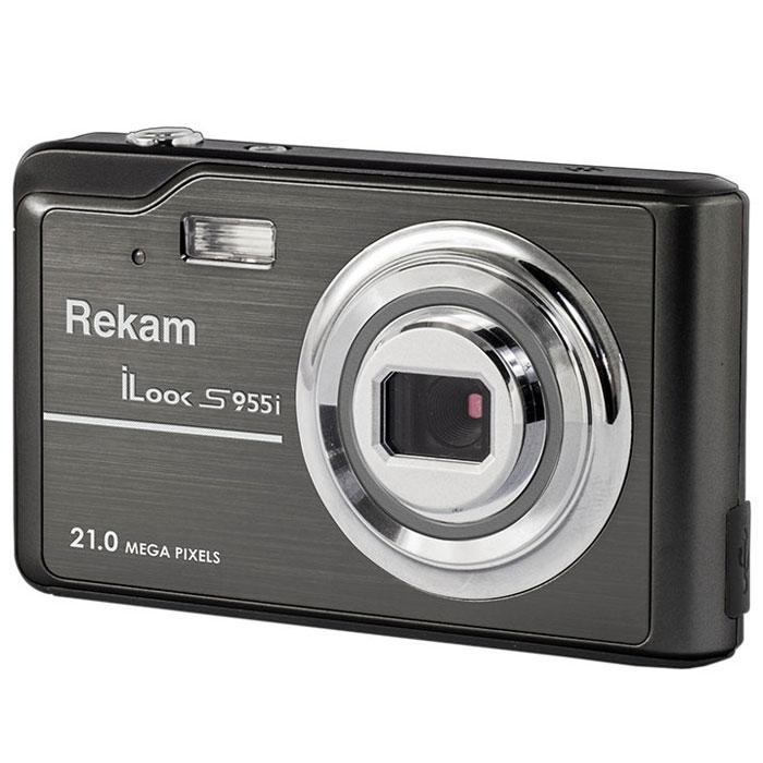 Rekam iLook S955i, Black цифровая фотокамера1108005130Rekam iLook S955i - это компактный цифровой фотоаппарат, созданный для сохранения памяти о самых ярких моментах жизни. Матрица CMOS обладает максимальным разрешением в 21 мегапиксель. Снимки, сделанные при помощи этой фотокамеры, идеальны для печати и редактирования. Rekam iLook S955i позволяет снимать видео в высоком разрешении и обладает всем необходимым для съемки в нормальных условиях. Фото сохраняются на карте памяти SD/MMC или SDHC объемом до 32 Гб. Камера оборудована несколькими режимами настройки баланса белого, в том числе и автоматический. Цветной дисплей 2,7 позволит вам детально увидеть объект фото- или видеосъемки. Баланс белого: авто / солнечно / пасмурно / флюоресцент / вольфрам Сценарии: авто / спорт / ночная съёмка / портрет / пейзаж / яркая сцена / пляж / вечеринка / высокая чувствительность ISO: авто / 100 / 200 / 400 / 800 Автоспуск: 2 с / 5 с / 10 с Вспышка: авто / принудительно / выкл. Функция Определение улыбки ...
