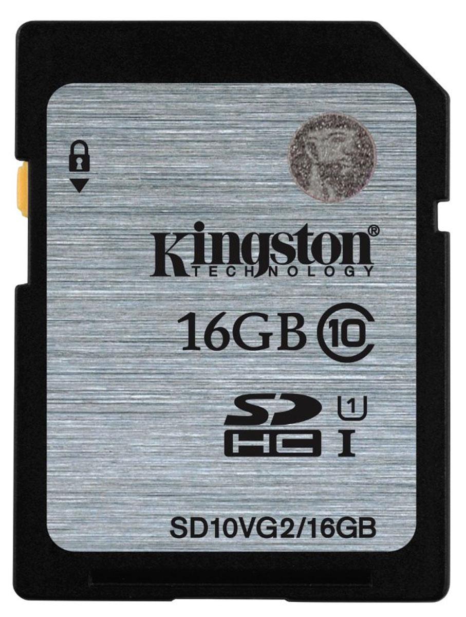 Kingston SDHC Class 10, 16GB карта памятиSD10VG2/16GBKingston SD SDHC Class 10 - карта памяти SDHC класса быстродействия 10. Увеличит объём памяти на ваших электронных устройствах SDHC. Гарантированная минимальная скорость передачи данных на уровне 10 Мб/сек. Карты памяти являются отличным решением для использования в новейших видеокамерах и фотоаппаратах.