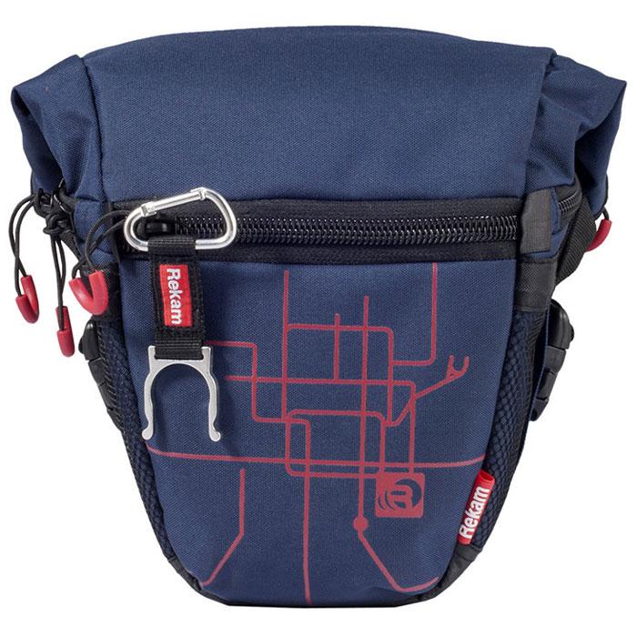 Rekam Pyramid RBX-51, Blue сумка для фотокамеры1401101173Стильная, эргономичная сумка Rekam Pyramid RBX-51 предназначена для небольшой зеркальной фотокамеры. Прочный материал, надежные молнии и крепления, обеспечивают максимальную защиту фототехники. Удобные отсеки и карманы позволяют разместить дополнительные аксессуары. Отсек для личных вещей, сделанный в форме мягкого раструба, при необходимости удобно складывается, и не занимает лишнего места.