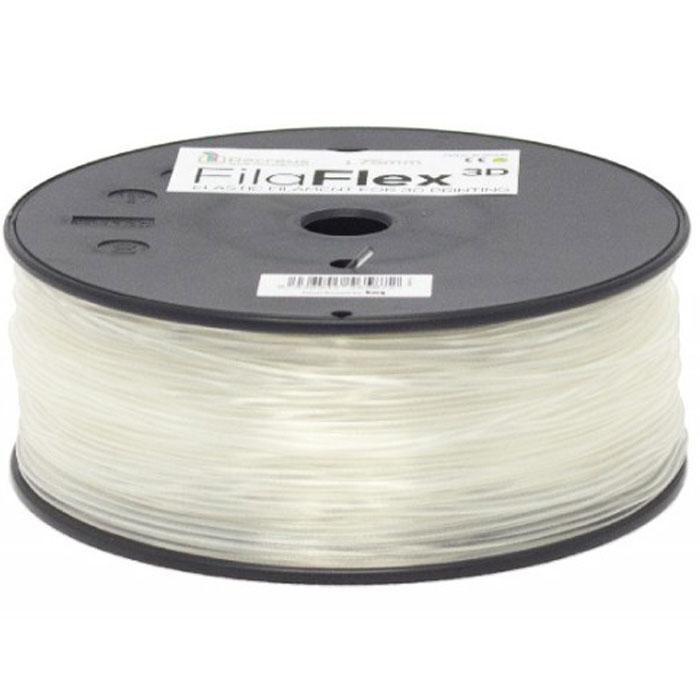 BQ Filaflex пластик в катушке, 1,75 мм, TransparentF000092Пластик BQ Filaflex это эластичный термопластик для использования в 3D принтерах, стойкий к моющим средствам и щелочам. Один из лучших материалов для печати на 3D принтере, он не теряет форму при растяжении и имеет высокую прочность на разрыв. Материал абсолютно без запаха и не является токсичным. Температура плавления 215-250°C. Пластик BQ Filaflex применяется для создания гибких, эластичных 3D моделей, таких как ремешки часов, обувь, предметы одежды и аксессуары, а также как часть более сложных 3D моделей в комбинации с обычным PLA пластиком. Одной катушки BQ Filaflex хватит на десятки изделий. Диаметр пластиковой нити: 1,75 мм Предел прочности: 39 МПа