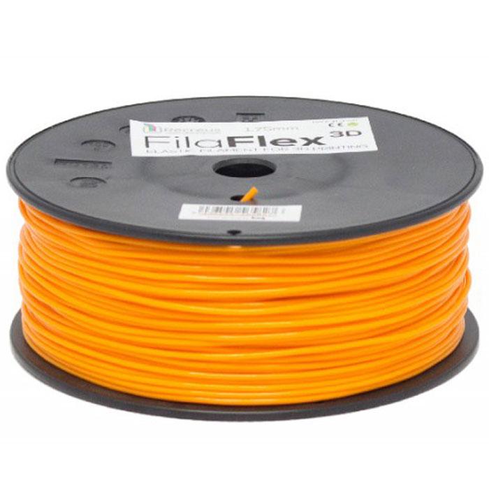 BQ Filaflex пластик в катушке, 1,75 мм, OrangeF000087Пластик BQ Filaflex это эластичный термопластик для использования в 3D принтерах, стойкий к моющим средствам и щелочам. Один из лучших материалов для печати на 3D принтере, он не теряет форму при растяжении и имеет высокую прочность на разрыв. Материал абсолютно без запаха и не является токсичным. Температура плавления 215-250°C. Пластик BQ Filaflex применяется для создания гибких, эластичных 3D моделей, таких как ремешки часов, обувь, предметы одежды и аксессуары, а также как часть более сложных 3D моделей в комбинации с обычным PLA пластиком. Одной катушки BQ Filaflex хватит на десятки изделий. Диаметр пластиковой нити: 1,75 мм Предел прочности: 39 МПа