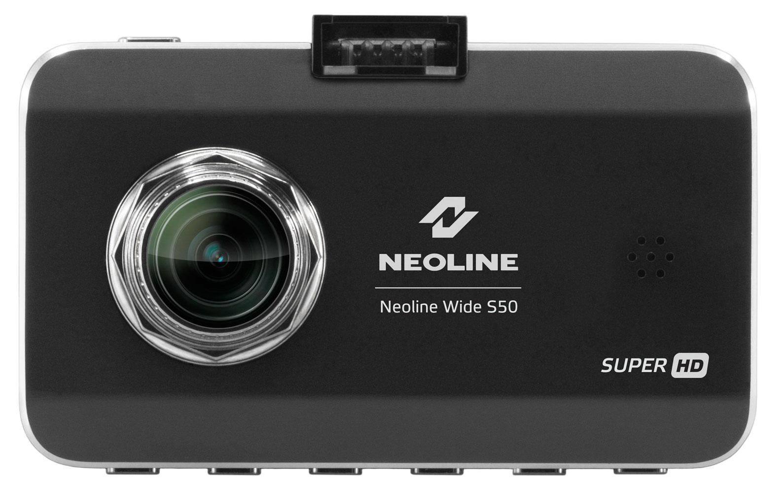 Neoline Wide S50, Black видеорегистраторWide S50Neoline Wide S50 оснащен самым мощным на сегодняшний день процессором Ambarella A7LA50 и самой совершенной матрицей для портативных изделий OV4689 c разрешением 4 мегапикселя, состоящей из 7 стеклянных линз. Эта техническая база позволяет видеорегистратору Neoline Wide S50 снимать видео с разрешением SuperHD 2304x1296 при 30 кадрах в секунду и получать максимально качественную картинку и в дневное, и в ночное время. Благодаря широкому углу обзора - 145o, видеорегистратор Neoline Wide S50 охватывает все 5 полос дорожного полотна, при этом не искажая картинку. Видеорегистратор Neoline Wide S50 зафиксирует действительно все, что происходит на дороге. В штатном креплении на стекло реализована возможность зарядки видеорегистратора через MiniUSB разъем. Это очень удобно, потому что Neoline Wide S50 одним движением легко снимается и одновременно отключается от питания. Видеорегистратор так же легко поворачивается в салон без прерывания записи. Neoline Wide S50 оснащен функцией WDR – это...
