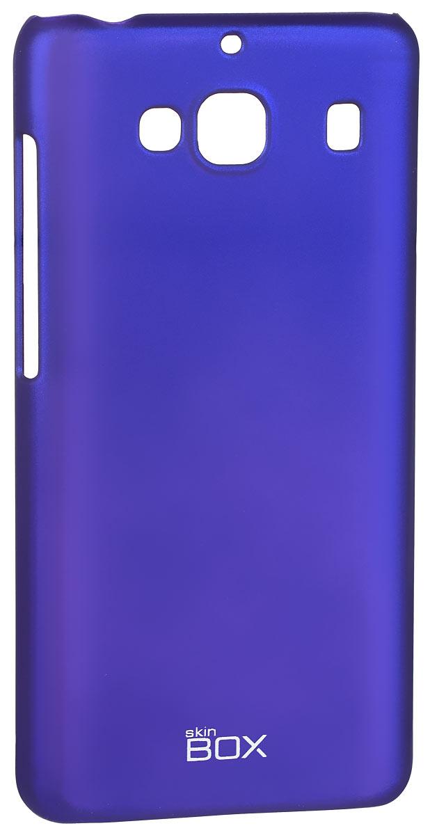 Skinbox 4People чехол для Xiaomi Redmi 2, BlueT-S-XR2-002Накладка Skinbox 4People для Xiaomi Redmi 2 выполнена из высококачественного поликарбоната. Она бережно и надежно защитит ваш смартфон от пыли, грязи, царапин и других повреждений. Чехол оставляет свободным доступ ко всем разъемам и кнопкам устройства.