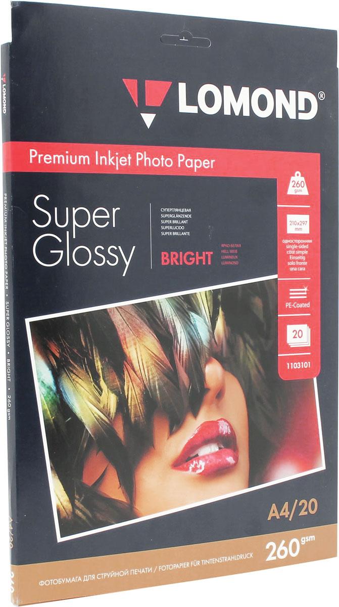 Lomond Super Glossy Bright 260/A4/20л суперглянцевая ярко-белая 1103101