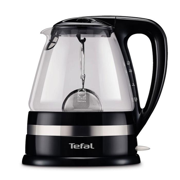 Tefal KO7108 электрический чайникKO7108Tefal KO7108 - современный электрический чайник со съемной крышкой и вращающимся на 360 градусов основанием. Прибор имеет скрытый нагревательный элемент, выполненный из высококачественной нержавеющей стали. Безопасный жаропрочный корпус из пластика и стекла обеспечит защиту от случайных ожогов. Кнопка включения/выключения чайника оснащена лампочкой-индикатором. Помимо прочего, электрочайник также имеет съемную крышку к которой крепится ситечко для заваривания листового чая (входит в комплект).