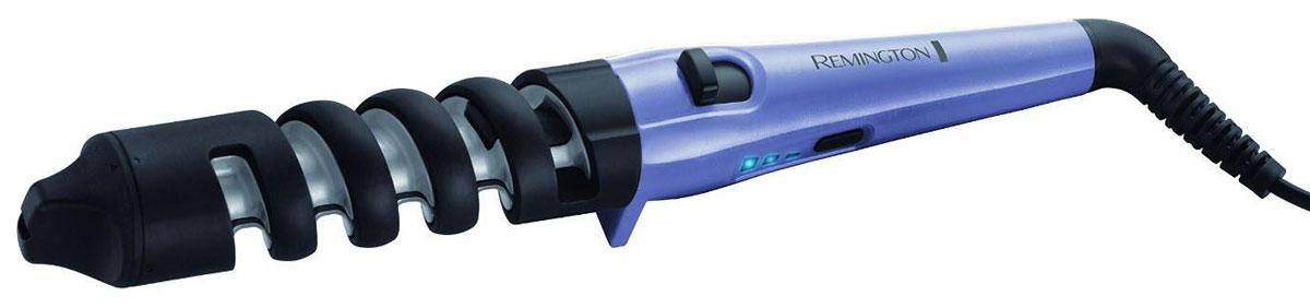 Remington CI63E1 щипцы для завивки волосCI63E1Щипцы Remington CI63E1 особенно понравятся тем девушкам, которые любят кудри. Этот простой в использовании прибор поможет создать тугие или свободные локоны с помощью специальной спиральной направляющей. Уникальный переключатель, позволит вам установить диаметр щипцов 19 мм и 31 мм, благодаря чему вы сможете создать тугие или свободные кудри, а ненагревающийся наконечник сделает укладку еще более легкой. С помощью трех температурных настроек, вы сможете выбрать режим, наиболее подходящий вашему типу волос или желаемой укладке. Для толстых волос или создания тугих кудрей, установите самую высокую температуру (200°C), для более тонких волос и создания более свободных кудрей, выберите средний (180°C) или низкий (160°C) температурные режимы. С помощью этого стайлера Remington CI63E1 вы, как профессиональный стилист, сможете создавать красивые локоны. Уникальный переключатель диаметра щипцов (19 и 31 мм) Спиральная направляющая для более легкой...