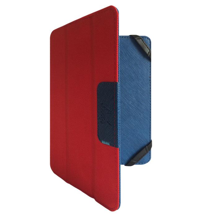 Snoogy DoubleSide SN-DS-U7 чехол для планшета 7, Blue RedSN-DS-U7-blu/redУниверсальный двусторонний чехол Snoogy DoubleSide SN-DS-U7 для планшетов с диагональю экрана 7. Чехол придуман и изготовлен полностью в России из качественной ПУ-кожи и ткани оксфорд. Держатель устройства - перекидные резинки, которые крепко фиксируют планшет. Ко всем элементам планшета имеется свободный доступ. Передняя крышка служит подставкой для альбомной ориентации планшета. Упаковка для чехла представляет собой самостоятельный продукт - она выполнена в качестве косметички и может использоваться для хранения и перевозки полезных мелочей.