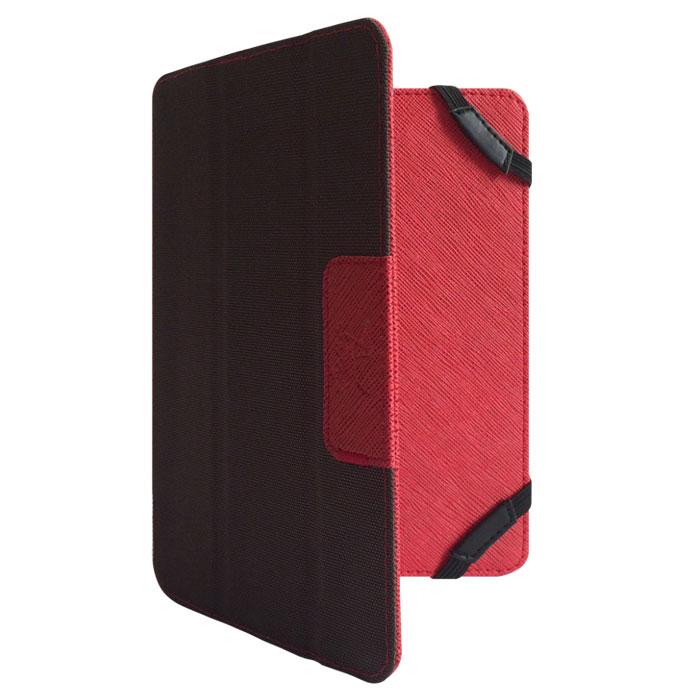 Snoogy DoubleSide SN-DS-U7 чехол для планшета 7, Red BrownSN-DS-U7-red/brnУниверсальный двусторонний чехол Snoogy DoubleSide SN-DS-U7 для планшетов с диагональю экрана 7. Чехол придуман и изготовлен полностью в России из качественной ПУ-кожи и ткани оксфорд. Держатель устройства - перекидные резинки, которые крепко фиксируют планшет. Ко всем элементам планшета имеется свободный доступ. Передняя крышка служит подставкой для альбомной ориентации планшета. Упаковка для чехла представляет собой самостоятельный продукт - она выполнена в качестве косметички и может использоваться для хранения и перевозки полезных мелочей.