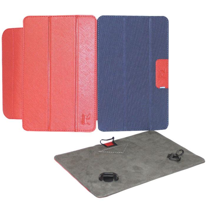 Snoogy Twin SN-TW-U7 чехол для планшета 7, Red BlueSN-TW-U7-red/bluУниверсальный чехол Snoogy Twin SN-TW-U7 для планшетов с диагональю экрана 7 со сменными лицевыми крышками. Меняйте лицевую панель по вашему настроению! Чехол придуман и изготовлен полностью в России из качественной ПУ-кожи и ткани с водоотталкивающим эффектом. Держатель устройства - эстетичные тонкие и надежные пластиковые уголки, которые крепко фиксируют планшет. Ко всем элементам планшета имеется свободный доступ. Предусмотрены отгибающиеся уголки на задней крышке для легкого доступа к задней камере устройства. Передняя крышка служит подставкой для альбомной ориентации планшета. Упаковка для чехла представляет собой самостоятельный продукт - она выполнена в качестве косметички и может использоваться для хранения и перевозки полезных мелочей.