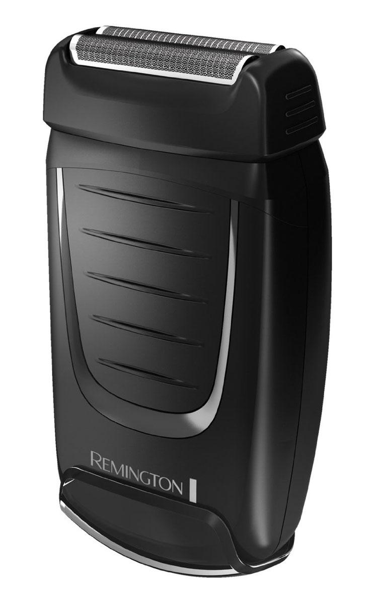 Remington TF70 электробритваTF70Сеточная бритва Remington TF70 отлично подойдет для использования во время путешествий. Она не займет много места в вашей сумке. Кроме того, вы убедитесь, что бритву удобно брать с собой, и вы сможете воспользоваться ей в любом месте и в любое время. Оснащенная двумя сетками, бритва повторяет контуры лица. Это обеспечит быстрое и эффективное бритье, что особенно подойдет мужчинам, ведущим активный образ жизни. Эта компактная бритва оснащена колпачком для защиты двух сеток и обеспечивает до 60 минут работы в беспроводном режиме. Таким образом, прибор гарантирует быстрый результат в любое время.
