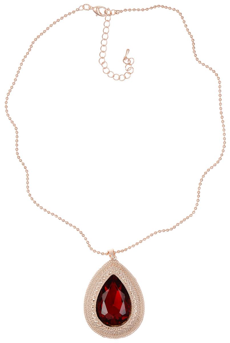 Колье Fashion House, цвет: золотистый, красный, белый. FH32243