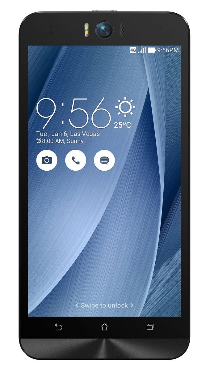 ASUS ZenFone Selfie ZD551KL (32GB), Silver (90AZ00U6-M01350)90AZ00U6-M01350Asus Zenfone Selfie ZD551KL - инновационное сочетание современных технологий, модных трендов и безупречного качества изготовления. В этом смартфоне есть все, чтобы увидеть себя в самом лучшем свете - две отличные камеры с множеством специальных режимов съемки, удобный интерфейс ZenUI и высококачественный экран. Отличительной особенностью смартфона ZenFone Selfie является высококачественная фронтальная камера с технологией PixelMaster, разрешением 13 мегапикселей, большой диафрагмой (F/2,2) и 88-градусным объективом, причем в режиме панорамных селфи она дает возможность снимать фотографии, охватывающие угол до 140 градусов. И фронтальная, и тыловая камеры смартфона оснащены двухцветной светодиодной вспышкой. В обоих применены современные компоненты от Largan и Toshiba, а в тыловой также реализована высокоскоростная система лазерной автофокусировки. Благодаря поддержке системы жестового управления ZenMotion, для перевода смартфона ZenFone Selfie в ...