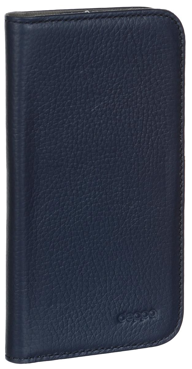 Deppa Wallet Cover чехол для Samsung Galaxy S4, Blue84007Чехол Deppa Wallet Cover для Samsung Galaxy S4 предназначен для защиты корпуса смартфона от механических повреждений и царапин в процессе эксплуатации. Имеется свободный доступ ко всем разъемам и кнопкам устройства. В комплект также входит защитная пленка из трехслойного японского материала PET.