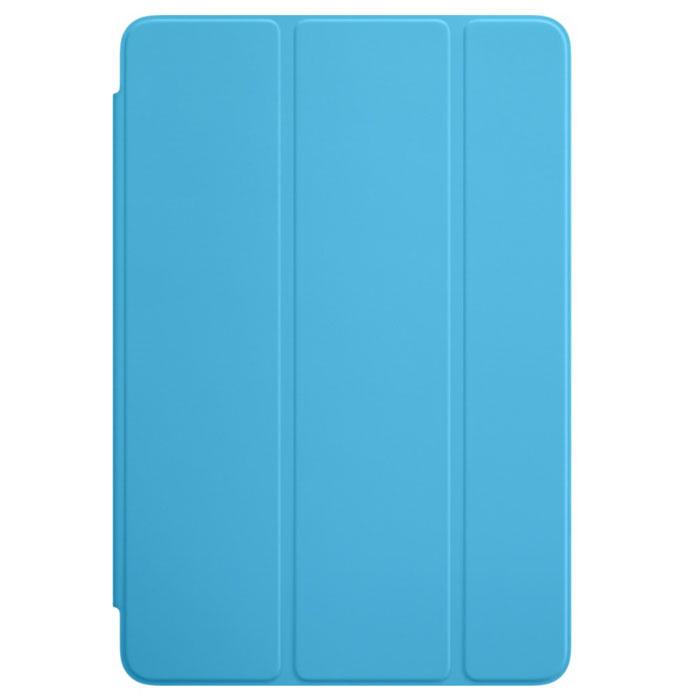 Apple Smart Cover чехол для iPad mini 4, BlueMKM12ZM/AОбложка Apple Smart Cover для iPad mini 4 создана из цельного листа полиуретана, чтобы защищать переднюю панель вашего устройства. Smart Cover автоматически выводит iPad из режима сна при открытии и переводит в режим сна при закрытии. Она складывается различными способами, что позволяет использовать её как подставку для чтения, просмотра фильмов, набора текста или звонков FaceTime. Обложка снимается и надевается очень легко, в любой момент.