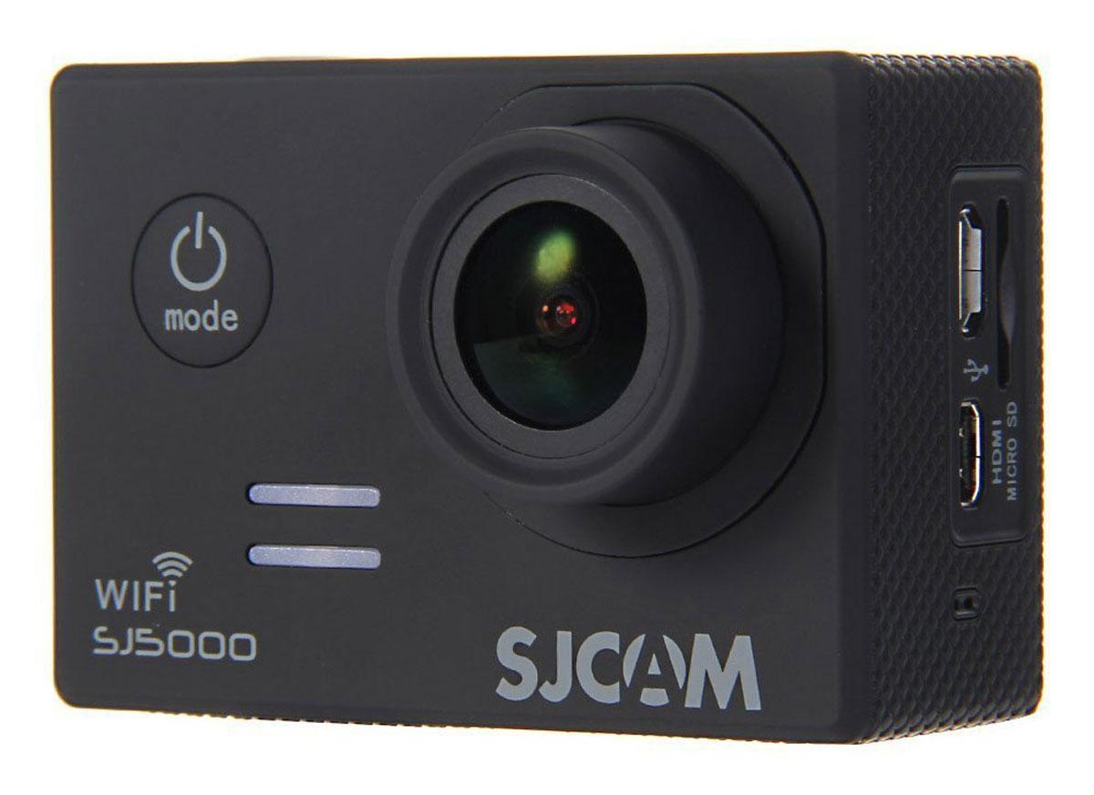 SJCAM SJ5000 WiFi, Black экшн-камера00000049280SJCAM SJ5000 Wi-Fi является продолжением новой линейки экшен камер, которую компания SJCAM представила в декабре 2014 года. Это многофункциональная экшн-камера обладает высоким качеством не только фото и видео съёмки, но и самого материала. Прочная водонепроницаемая конструкция делает её просто незаменимой в экстремальном отдыхе и спорте. Камера оснащена специальным Wi-Fi модулем, который действует на расстоянии 15 метров. Он позволяет транслировать видео в прямом эфире на экран Вашего Android или iOS, управлять съёмкой со смартфона, а также загружать видео с камеры на смартфон с последующей публикацией в Youtube и социальных сетях. Благодаря режиму цейтаоферной съёмки камера может сжимать многочасовые события (например, расцветающую розу) до нескольких секунд. Теперь восход солнца после съёмки произойдёт прямо на глазах ваших друзей! SJCAM SJ5000 может быть использована в качестве видеорегистратора благодаря возможности циклической ...