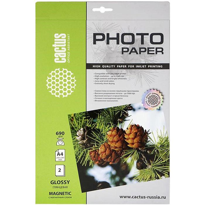 Cactus CS-MGA46902 глянцевая фотобумага с магнитным слоемCS-MGA46902Глянцевая фотобумага Cactus CS-MGA46902 с магнитным слоем. Запечатлевайте лучшие мгновения вашей жизни в сочных и насыщенных цветах. Представляйте яркие и красочные презентации. Наслаждайтесь отпечатками высочайшего качества. Глянцевая фотобумага Cactus с магнитным слоем представляет собой оптимальное сочетание цены и качества. Она отлично подходит для печати памятных фотографий в фоторамку или фотоальбом. Обладая приятным глянцевым блеском, она украсит ваши фотографии и презентации. А высококлассное покрытие позволит добиться максимально точной цветопередачи, что будет полезно при печати макетов и web-графики.