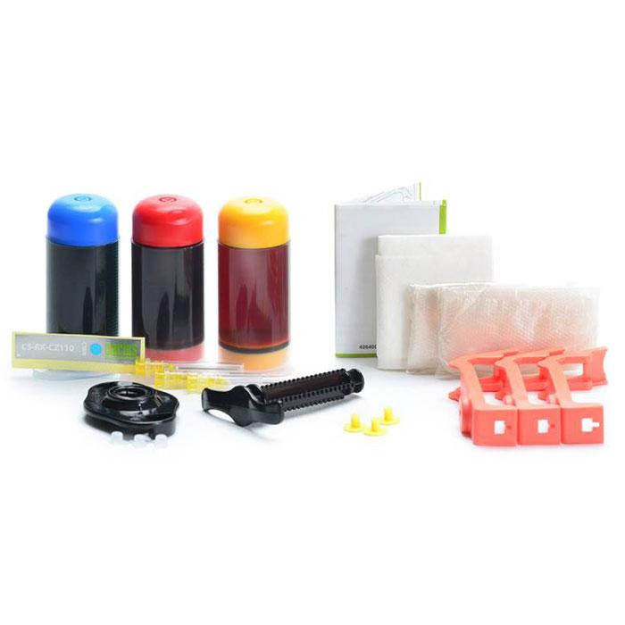 Cactus CS-RK-CZ110-112, Color заправка для принтеров HP DJ IA 3525/5525/4515/4525CS-RK-CZ110-112Заправочный комплект Cactus CS-RK-CZ110-112 для перезаправляемых картриджей HP DeskJet Ink Advantage 3525/ 5525/ 4515/ 4525. Расходные материалы Cactus для печати максимизируют характеристики принтера. Обеспечивают повышенную четкость изображения и плавность переходов оттенков и полутонов, позволяют отображать мельчайшие детали изображения. Обеспечивают надежное качество печати.