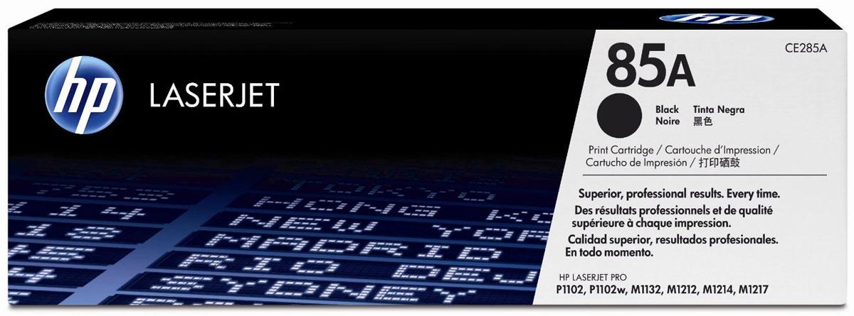 HP CE285A (85A), blackCE285AКартридж HP 85A с черными чернилами для печати черно-белых текстов.