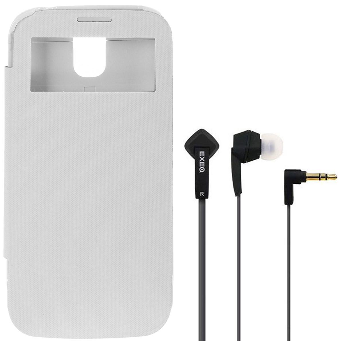 EXEQ HelpinG-SF07 чехол-аккумулятор для Samsung Galaxy S4, White (2600 мАч, Smart cover, флип-кейс)HelpinG-SF07 WHExeq HelpinG-SF07 - надежный аксессуар для Samsung Galaxy S4, удачно сочетающий в себе защитный пластиковый чехол и дополнительный аккумулятор! Exeq HelpinG-SF07 оборудован встроенным аккумулятором, который позволит повысить работоспособность Вашего смартфона практически вдвое. Специальная конструкция и лаконичный дизайн Exeq HelpinG-SF07 обеспечат надежную защиту смартфона от царапин, острых предметов и прочих внешних воздействий. А для защиты дисплея чехол оснащен не простой откидной крышкой, а Smart-cover - она не только надежно защитит дисплей от загрязнений, пыли и царапин, но позволит регулировать работу экрана. Компактные размеры чехла позволят удобно и быстро поместить смартфон в чехол, а также совсем незначительно увеличат размеры и вес самого смартфона. Exeq HelpinG- SF07 станет просто великолепным аксессуаром для активных пользователей Samsung Galaxy S4, а также для тех, кто много времени проводит в дороге или собирается на отдых. ...