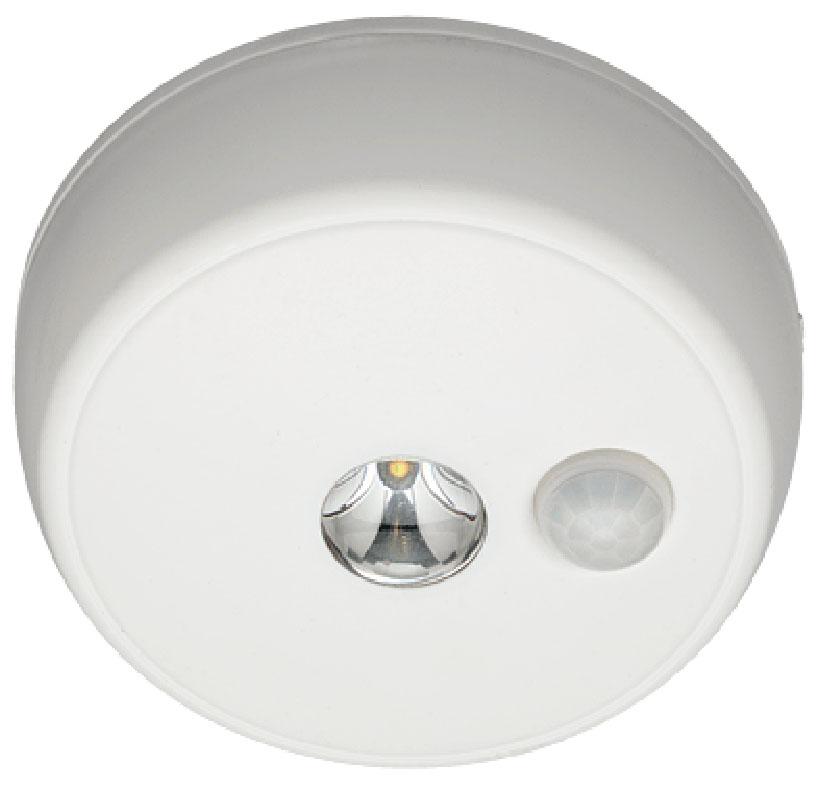 Светильник MrBeams MB980, беспроводной, с датчиками движения и освещенности, LED светильник, потолочный, 100 люмен, белый, 4 х СMB980Беспроводной LED светильник с датчиками движения и освещенности Варианты применения: для использования внутри помещения и на улице. Подсветка в любом нужном месте - кладовка, подвал, гардеробная, ванная, мансарда, чердак, беседка. Яркость: 100 люмен, Цвет Белый (3500K) Площадь освещения: 24,2 кв. метра Датчик движения: дистанция срабатывания: 3- 6 метров Датчик освещенности: активация работы светильника только в темноте Таймер отключения при отсутствии движения: 30 секунд. Время работы на одном комплекте батареек: 1 год работы ежедневного типового использования или до 35 часов непрерывной работы Питание: 4 щелочные батарейки типа С (1.5 В) Простота монтажа/демонтажа: Крепление саморезами (в комплекте). Безопасность: Отсутствие электрической проводки, корпус защищен от случайного проникновения маленьких детей. Надежность: срок службы LED до 30000 часов. Высококачественный пластик с защитой от ультрафиолетовых лучей – не выгорает под солнцем. Размеры (Ш*В*Г): 12,7 * 12,7 * 3,8 см...