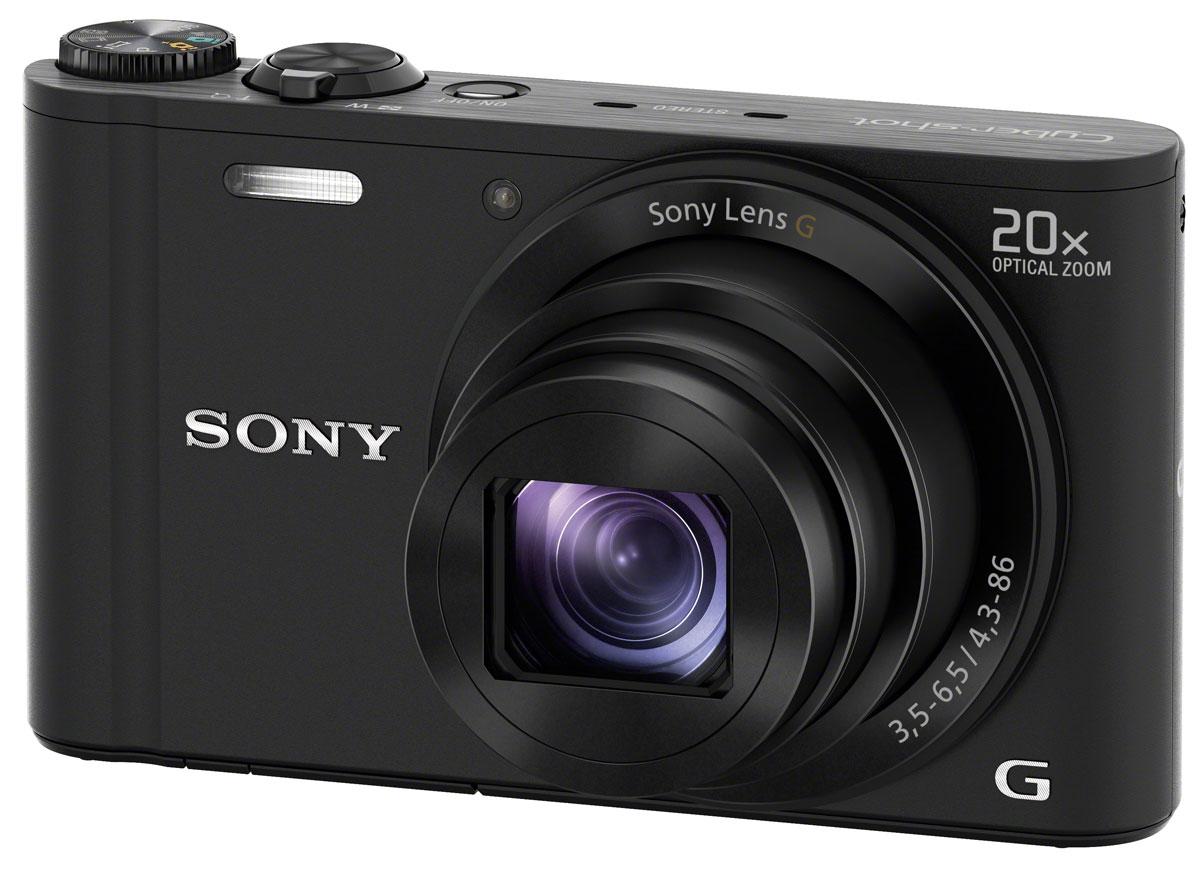 Sony Cyber-shot DSC-WX350, Black цифровая фотокамераDSCWX350B.RU3Цифровая компактная фотокамера Sony Cyber-shot DSC-WX350.20x оптический зум:Несмотря на небольшой размер, эта камера оснащена передовыми функциями и компонентами для создания великолепных фотографий. Обладая 20-кратным зумом и матрицей Exmor R CMOS, WX350 отличается высокими фотографическими характеристиками и портативностью карманного устройства.Съемка с высокой детализацией:Более широкие светочувствительные элементы матрицы Exmor R CMOS с разрешением 18,2 Мпикс и задней подсветкой получают больше света, обеспечивая высокую четкость каждого кадра. Получайте фотографии высокого качества благодаря процессору BIONZ X, который в 3 раза мощнее предыдущего процессора BIONZ. Он обеспечивает более точную цветопередачу, лучшее шумоподавление и более скоростную серийную съемку. Технология By Pixel Super Resolution анализирует каждый пиксел и повышает разрешение изображения, восстанавливая детализацию приближенного объекта.Приближение без дрожания:20-кратный оптический зум позволяет приближать объекты без ущерба цвету, детализации или тону. Движение объектива стабилизируется гироскопами, которые компенсируют дрожания при съемке с рук и обеспечивают четкие фотографии во всем диапазоне фокусных расстояний.Делитесь настроением при помощи Wi-Fi:Благодаря встроенному Wi-Fi и NFC вы можете мгновенно делиться своими лучшими фотографиями. А благодаря специальному приложению для смартфонов пульт ДУ будет всегда в ваших руках. Технология NFC позволяет подключаться к сети Wi-Fi и обмениваться фотографиями и видео с родными и друзьями. Изменяйте настройки, приближайте и, самое главное, снимайте с помощью приложения для смартфонов Remote App.Не нужно думать и гадать:Размышляете, какие лучше подобрать настройки? Об этом позаботится ваша фотокамера. От макросъемки до портретов в приглушенном свете, фотокамера сама выполняет оптимальные настройки для вашего удобства. Она даже определяет и компенсирует движение объекта в кадре, 