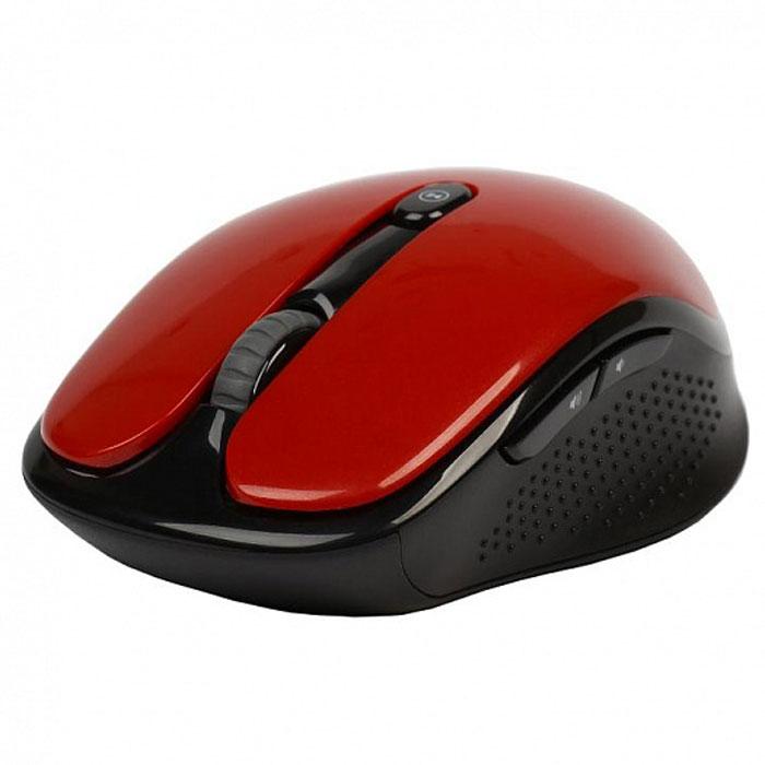 SmartBuy SBM-502, Red мышьSBM-502AG-RУдобная и стильная беспроводная мышь SmartBuy SBM-502 создана специально для удобного применения и обладает высокочувствительным оптическим сенсором, благодаря чему отлично работает практически на любых поверхностях. Клавиши устройства работают, не издавая звуков благодаря чему вы не помешаете окружающим. Разрешение оптического сенсора переключается в диапазоне 800 / 1000 / 1600 dpi, что способствует точному позиционированию курсора. Оптическая светодиодная мышка отличается удобной эргономикой, а ее форма подходит как левшам, так и правшам.