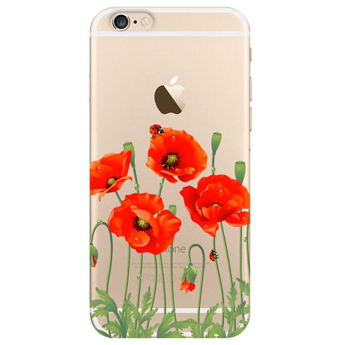 Deppa Art Case чехол для Apple iPhone 6/6s, Flowers (мак)100102Чехол Deppa Art Case для Apple iPhone 6/6s предназначен для защиты корпуса смартфона от механических повреждений и царапин в процессе эксплуатации. Имеется свободный доступ ко всем разъемам и кнопкам устройства. Чехол изготовлен из поликарбоната толщиной 0,7 мм и оформлен принтом с изображением цветков мака.