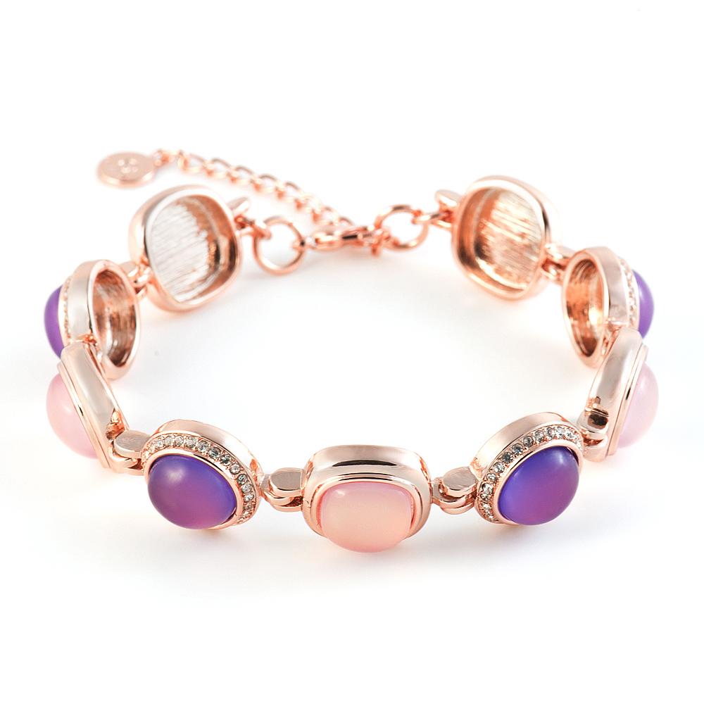 Браслет Selena Medea. 4007856040078560Ювелирная смола, кристаллы Preciosa. Гальваническое покрытие: золото.