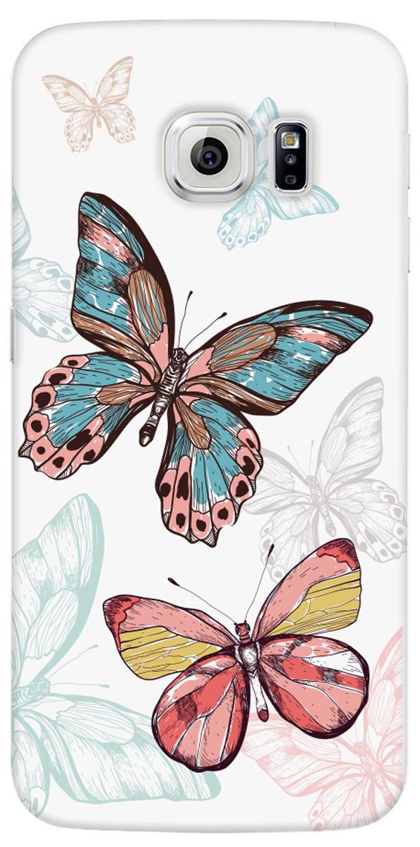 Deppa Art Case чехол для Samsung Galaxy S6 edge, Pastel (бабочки)100224Чехол Deppa Art Case для Samsung Galaxy S6 edge предназначен для защиты корпуса смартфона от механических повреждений и царапин в процессе эксплуатации. Имеется свободный доступ ко всем разъемам и кнопкам устройства. Чехол изготовлен из поликарбоната толщиной 1 мм и оформлен нежным принтом в пастельных тонах с изображением бабочек.