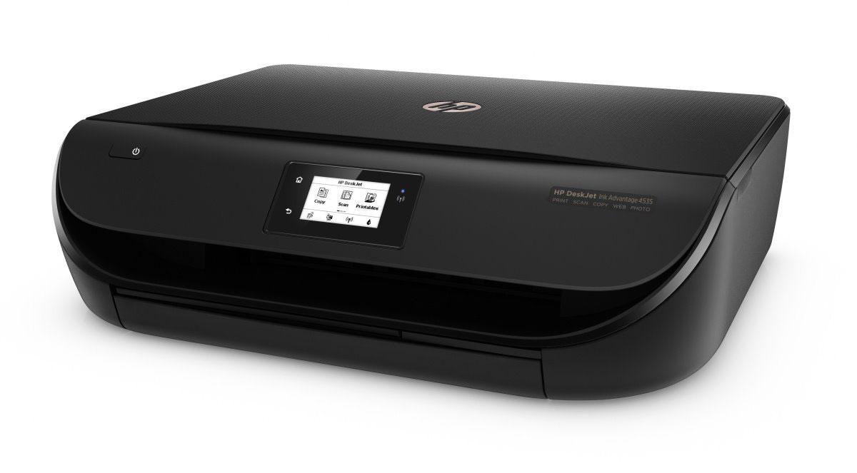 HP DeskJet Ink Advantage 4535 All-in-One (F0V64C) МФУF0V64CHP DeskJet Ink Advantage 4535 All-in-One - это идеальный выбор для решения любых задач. Моментально подключайтесь к МФУ по беспроводной сети из любой точки офиса и быстро отправляйте документы на печать прямо со смартфона или планшета.Работайте так, как вам удобно. Благодаря возможностям беспроводной связи вы легко можете печатать документы практически с любого смартфона или планшета. Возможности простой настройки со смартфона, планшета или ПК позволяют быстро приступить к работе.Подключите ваш девайс напрямую к принтеру и выполняйте печать без подключения к сети. Бесплатное приложение HP All-in-One Printer Remote позволяет с легкостью управлять заданиями печати и выполнять сканирование с помощью мобильных устройств.Выполняйте высококачественную печать любых фотографий и документов благодаря недорогим струйным картриджам HP. Это МФУ отличается надежностью и неизменно высоким качеством печати.Достаточно одного касания, чтобы отправить документ на печать, выполнить сканирование или копирование с помощью сенсорного дисплея с диагональю 5,5 см (2,2).Уменьшите количество используемой бумаги и расходных материалов на 50 % за счет автоматической двусторонней печати.Печатайте профессиональные фотографии без полей, документы, не уступающие по качеству лазерной печати, раскраски и многое другое, не выходя из дома. Оцените удобство удаленной печати. Автоматически выдвигаемый выходной лоток не позволяет отпечаткам упасть на пол.