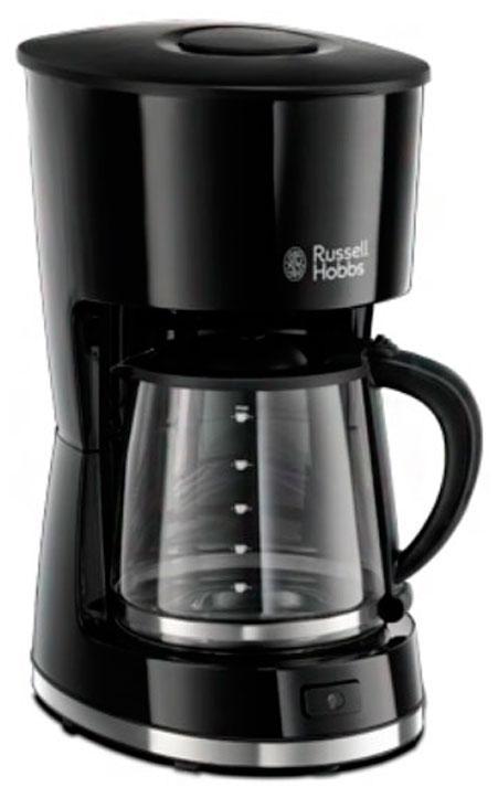 Russell Hobbs 21420-56 кофеварка21420-56Если вы любите современный дизайн так же, как и вкус свежесваренного кофе, то кофеварка Mode подойдет именно вам. Выполненная в гладком корпусе черного цвета, она обладает компактным дизайном и притягивающими взгляд акцентами из нержавеющей стали. Кофеварка приготовит до 10 больших чашек, имеет функцию пауза во время заваривания. Плита автоподогрева сохранит кофе теплым в течение часа.