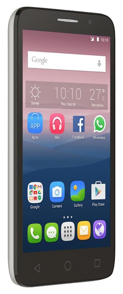 Alcatel OT-5065D Pop 3, White Leather