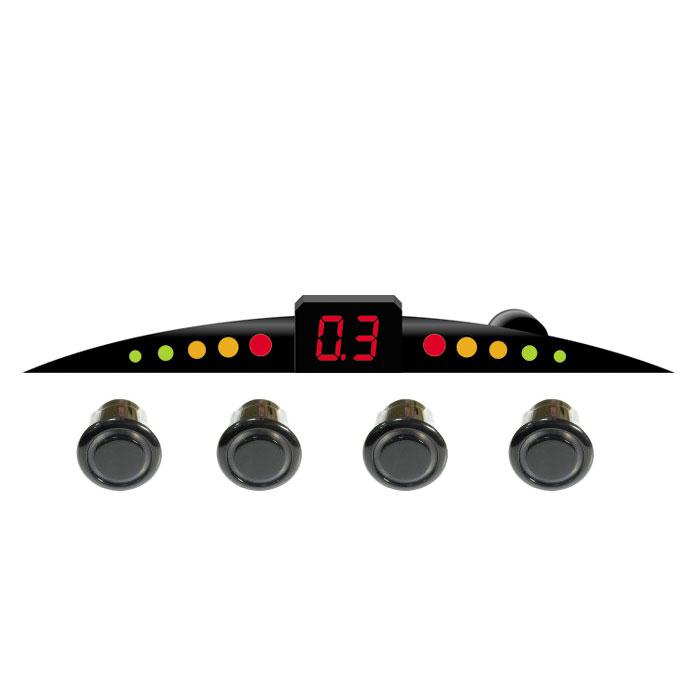 ParkCity Ultra Slim New 418/110, Black парковочный радар00000007526Очень часто приходится парковаться на оживленных улицах с ограниченным пространством для маневра. В данной ситуации вам непременно поможет парктроник ParkCity Ultra Slim New 418/110, позволяющий припарковать ваш автомобиль в самых сложных ситуациях. Уникальность данной модели - это сверхтонкий размер светодиодной шкалы и встроенный бипер со звуковым напоминанием о приближении препятствия. Комплектуется четырьмя датчиками и определяет расстояние до препятствия с 2,5 до 0,3 метров. Диаметр датчиков равен 18 мм. Уровень громкости звукового сигнала: 80 дБ Диапазон рабочих температур: от -35 до +70°С Напряжение питания: от 10,8 до 15 В Потребляемая мощность: 5 Вт Регулировка громкости звука Самодиагностика при включении