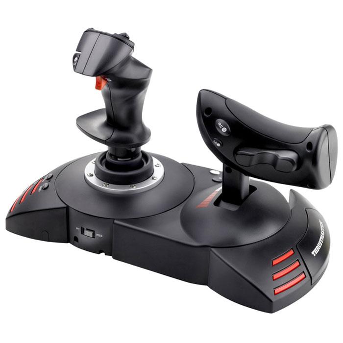 Thrustmaster T-Flight Hotas X, Black джойстик + подарок от War Thunder2960703Джойстик Thrustmaster T-Flight Hotas X со съемным рычагом управления и прямой конфигурацией для моментального взлета. Возможности полного программирования для компьютера и PS3. Специальная кнопка PRESET (предварительные настройки) для моментального переключения игры с одной системы настроек на другую Съемный эргономичный сектор газа в натуральную величину Элементарно простое и быстрое подключение по типу Plug & Play, с набором предварительно настроенных функций (без забот о настройках) Большая опора для руки, обеспечивающая высокий комфорт Двойное управление: с помощью поворота рукоятки (с интегрированной системой блокировки) или с помощью современного качающегося рычага Встроенная память для сохранения настроек даже при отключении джойстика Высокочувствительный джойстик с регулируемым сопротивлением Программируемый: 12 кнопок и 5 осей могут быть запрограммированы Специальная кнопка MAPPING...