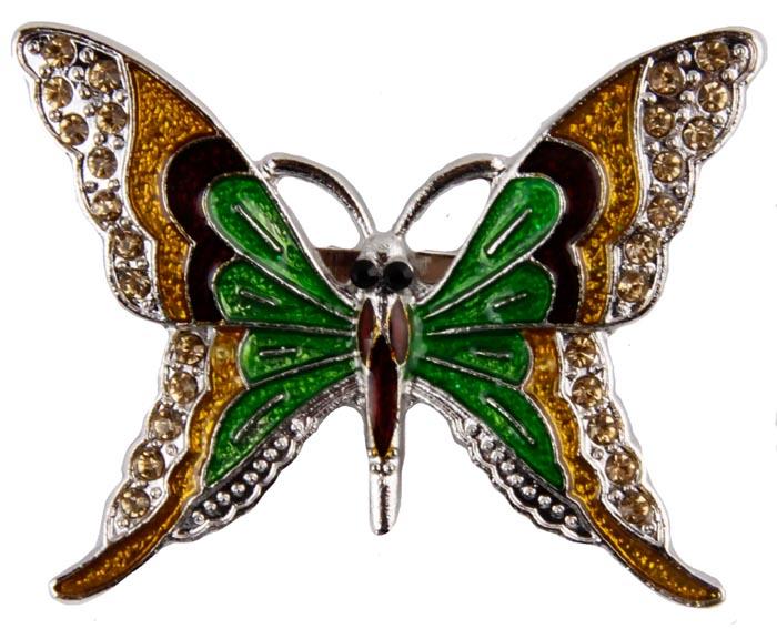 Брошь Цветная бабочка. Металл, полихромные эмали, кристаллы. Корея, конец XX векаОС23606Брошь Цветная бабочка. Металл, полихромные эмали, кристаллы. Корея, конец XX века. Размеры 5 х 4 см. Сохранность хорошая. Очаровательная яркая брошь, выполненная в виде небольшого серебристого мотылька. Аксессуар инкрустирован целой россыпью мелких сверкающих страз, украшен эмалью различных цветов. Эта изысканная брошь станет стильным украшением для романтичной и творческой натуры и гармонично дополнит Ваш наряд, станет завершающим штрихом в создании образа.