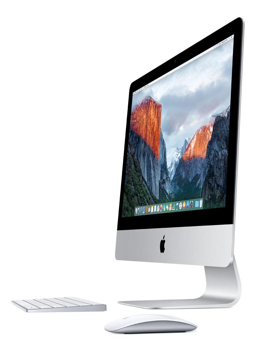 Apple iMac 21.5 (MK142RU/A) моноблокMK142RU/AМоноблок Apple iMac 21,5. Технология IPS и подсветка LED: Великолепный дисплей iMac 21,5 выглядит потрясающе с любого угла просмотра. Технология плоскостного переключения in-plane switching (IPS) обеспечивает чёткое изображение и точную цветопередачу под любым углом. А подсветка LED гарантирует мгновенное включение и одинаковую яркость с самого начала и до конца. Так что вы в любую минуту можете продемонстрировать родным слайд-шоу своих фотографий из поездки. Всегда живые и точные цвета: Всё, что вы видите на большом глянцевом экране - от оттенков кожи и теней до голубого неба и зеленых лугов - выглядит ярким и насыщенным. К тому же, цвета стали более реалистичными. Потому что для каждого дисплея iMac цвета калибруются индивидуально с помощью новейших спектрорадиометров и соответствуют стандартам цвета, признанным во всём мире. Графика от Intel и NVIDIA: Графические процессоры iMac невероятно мощные. Встроенный...