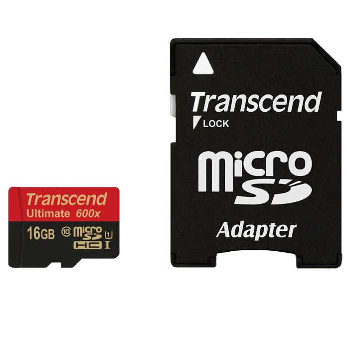 Transcend Ultimate microSDHC Class 10 UHS-I 600x 16GB карта памятиTS16GUSDHC10U1Карты памяти Transcend microSDHC UHS-I с поддержкой спецификации Ultra High Speed Class 1 созданы специально, чтобы улучшить качество работы со смартфонами и планшетами. Карты памяти используют технологию последнего поколения и гарантируют максимально возможный уровень производительности при работе активно задействующих память мобильных приложений и игр, а также обеспечивают плавную запись и воспроизведение видео в разрешении Full HD.