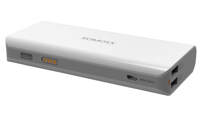 Romoss Sailing 4, White внешний аккумулятор00000008790Портативное зарядное устройство Romoss Sailing 4 (10400 мАч). Если Вы часто путешествуете или постоянно находитесь в дороге, то самым оптимальным вариантом станет приобретение Romoss Sailing 4. Этот внешний аккумулятор имеет емкость 10400 мАч. В любое время и в любом месте Вы сможете зарядить свой смартфон и планшет. Он имеет 2 USB выхода и может заряжать 2 устройства одновременно. Есть возможность быстрой зарядки вашего планшета через порт 2,1 А. OMOSS sailing 4 позволяет подзарядить телефон или другое мобильное устройство в любом месте, где нет доступа к электричеству. Данная модель имеет высокую емкость, режим автоматического отключения и долгий период сохранения заряда. Оно отлично подходит для походов, путешествий и для тех случаев, когда не хватает емкости стандартного аккумулятора. Данная модель имеет встроенный фонарик. Устройство имеет 2 порта USB, позволяющие одновременно заряжать 2 ваших гаджета. Идеально подходит для зарядки телефонов, плашшетов, электронных...