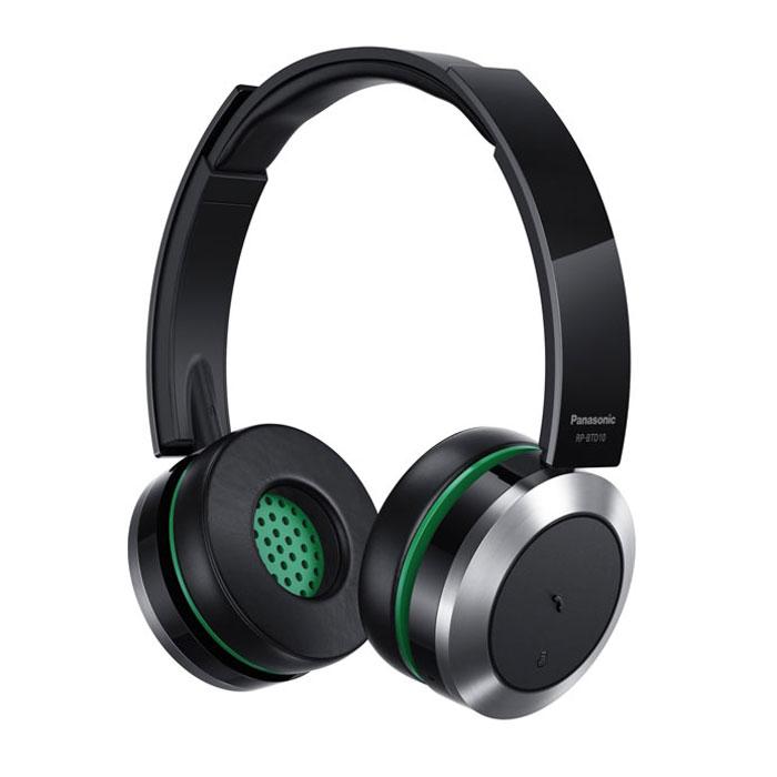 Panasonic RP-BTD10E-K, Black наушникиRP-BTD10E-KPanasonic RP-BTD10E-K - беспроводные наушники, работающие помощью технологии Bluetooth.Высокое качество звука40-миллиметровые динамики обеспечат мощное звучание низких частот. Наушники поддерживают кодек aptX и воспроизводят музыку с минимальным процентом потерь. Оцените возможности беспроводного подключения и отличное качество звучания любимой музыки.Удобное подключение по Bluetooth с помощью технологии NFCДля сопряжения со смартфоном достаточно одного легкого нажатия на чашку наушников. Теперь, чтобы порадовать себя хорошей музыкой, вам больше не придется тратить много времени с настройками смартфона. Наушники можно подключать двумя способами: по Bluetooth или с помощью специального съемного провода. В комплект также входит кабель USB, который позволяет легко заряжать наушники от ПК или любого другого устройства с разъемом USB. На чашках наушников расположены специальные выпуклые кнопки. Их легко отличить на ощупь: вам не придется снимать наушники, чтобы найти нужную кнопку. На нижней внутренней стороне левой чашки встроен небольшой микрофон. Это позволяет использовать наушники в качестве гарнитуры, переключая их с помощью кнопки ответа на звонок. Мощный литий-ионный аккумулятор, аналогичный моделям, устанавливаемым в цифровые камеры, обеспечивает до 30 часов воспроизведения музыки. Теперь о заряде батареи можно не беспокоиться, даже если вам предстоит провести в дороге много часов.