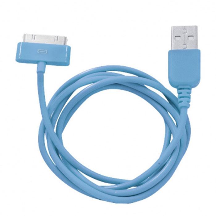 Human Friends Rainbow C, Blue кабель USB/30-pinRainbow C BlueHF Rainbow - кабель для соединения устройств Apple c USB-портом. Он может использоваться для передачи данных, зарядки аккумулятора и адаптирован для работы со всеми операционными системами. Главное достоинство Rainbow - в его внешнем виде. Он выгодно отличается от привычных и скучных расцветок стандартных кабелей. И кроме того, кабель упакован в очень удобный и компактный пакет-чехол с многоразовой системой открывания-закрывания.